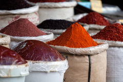 Hot chili, Istanbul, Turkey. Spices in Egyptian Bazaar. Istanbul, Turkey Stock Images