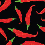 Hot chili paper seamless Stock Photo