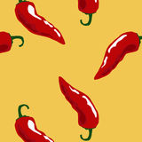 Hot chili pattern yellow Royalty Free Stock Image