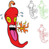 Hot Chili Pepper Royalty Free Stock Photos