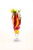 Hot chili pepper cocktail royalty free stock photo