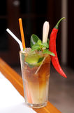 Hot chili pepper cocktail Stock Images