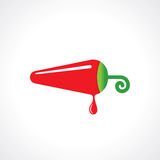 Hot chili pepper  icon Royalty Free Stock Photo