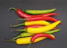 Hot chili pepper vegetables food Royalty Free Stock Photos