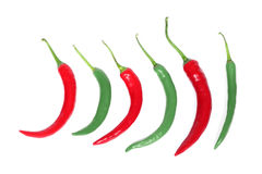 Hot chili-peppers Royalty Free Stock Photos