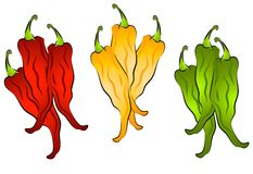 Hot Chili Peppers Clip Art 2 Royalty Free Stock Images