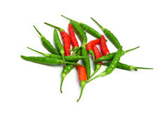 Hot chili peppers isolated on a white background Royalty Free Stock Photo