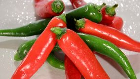 Hot Chili Peppers Rotating Royalty Free Stock Photo