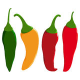 Hot chili peppers. Royalty Free Stock Photos
