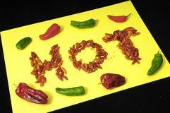 Hot Chili Peppers. Some Very Hot Chili Peppers Ready to Cook Royalty Free Stock Photos