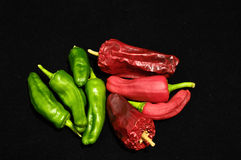 Hot Chili Peppers. Some Very Hot Chili Peppers Ready to Cook stock photos