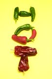 Hot Chili Peppers. Some Very Hot Chili Peppers Ready to Cook stock photography