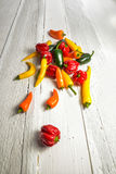 Hot chili peppers Stock Image