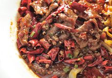 Hot Chili Poached beef Royalty Free Stock Image
