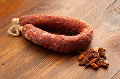 Hot chili salami from calabria italy Stock Photography