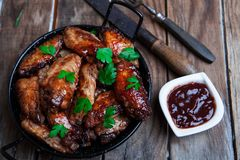 Bufalo style chicken wings royalty free stock photo