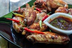 Bufalo style chicken wings. Hot chili sauce buffalo style chicken wings Stock Photography