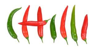 Hot chili. On white background Stock Photos