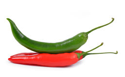 Hot chili. On white background Royalty Free Stock Images