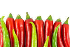 Hot chilie peppers Stock Photo
