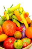 Hot Chilis And Tomatoes Royalty Free Stock Photo