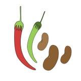 Hot chilli pepper  Stock Image