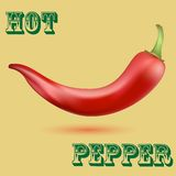 Hot Chilli Pepper Royalty Free Stock Photos
