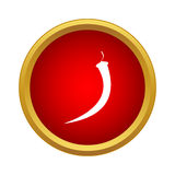 Hot chilli pepper icon, simple style Royalty Free Stock Images