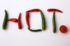 Hot Chilli Red Green Sign Royalty Free Stock Photo