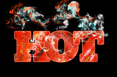 Hot chilli red text background Royalty Free Stock Image