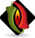 Hot chilly logo Royalty Free Stock Photos