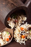 Hot chinese rise with garnish Stock Images