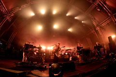 Hot Chip electronic music band live performance at Sonar Festival Royalty Free Stock Image