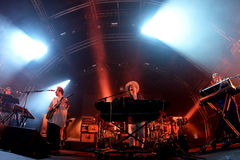 Hot Chip electronic music band live performance at Sonar Festival. BARCELONA - JUN 19: Hot Chip electronic music band live performance at Sonar Festival on June Stock Image