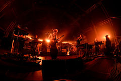 Hot Chip (electronic music band) performs at Sonar Festival Stock Images
