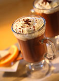 Hot chocolat dessert Royalty Free Stock Photos