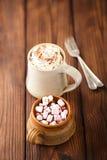Hot chocolat vintage mugs, Royalty Free Stock Photography