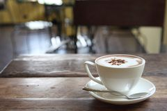 Hot chocolate drink. Hot chocolate on the table royalty free stock photography