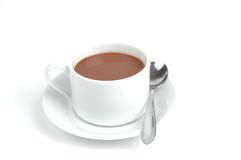 Hot Chocolate. In a cup isolated on a white background Stock Image
