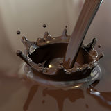 Hot chocolate. Computer generated image of a tasty hot chocolate poured Royalty Free Stock Photography