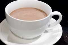 Hot Chocolate. Large mug of Hot Chocolate Stock Photo