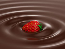 Hot Chocolate. Heart ripple effect Stock Photos