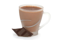 Hot chocolate. Cup of hot chocolate with chocolate bar Stock Photo