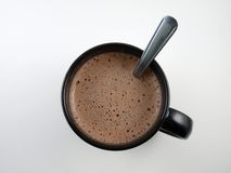 Hot Chocolate. A down shot into a steaming mug of hot chocolate Stock Photos