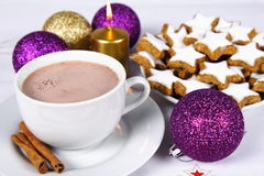 Hot Chocolate And Cookies Stock Photography