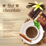 Hot Chocolate Background Royalty Free Stock Image