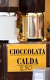 HOT CHOCOLATE bar market Stock Photo