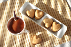 Hot chocolate and biscuits Royalty Free Stock Photo