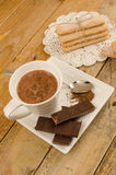 Hot chocolate and biscuits still life Royalty Free Stock Photography