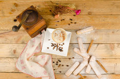 Hot chocolate and biscuits still life Royalty Free Stock Photos